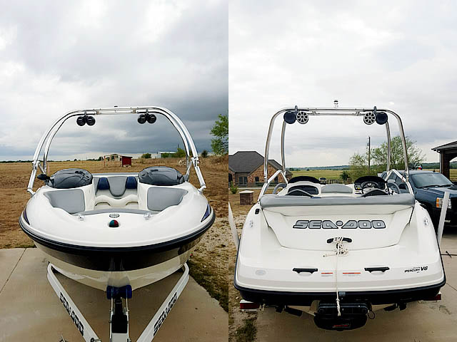 2004 Sea Doo Challenger 2000 boat wakeboard tower