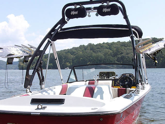 1985 Correct Craft Ski Nautique boat wakeboard towers installed on 09/21/2015