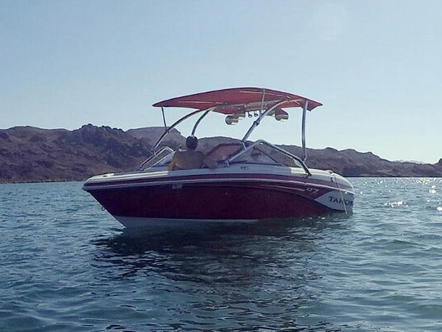 2014 Tahoe Q7i boat wakeboard tower