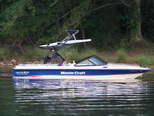 FreeRide Tower with Bimini ski tower Installed on 1994 MasterCraft Prostar 205  Boat