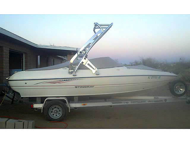 Stingray boat wakeboard towers