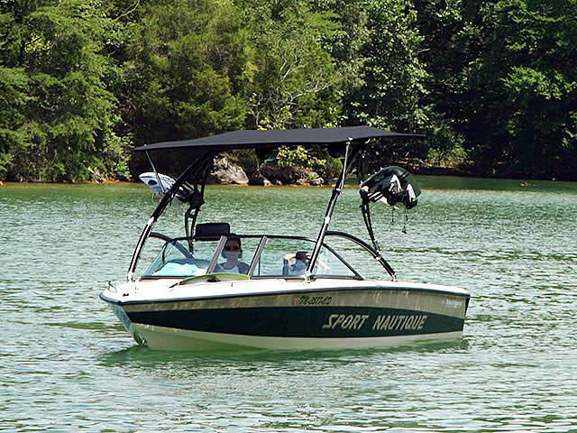 Assault Tower with Eclipse Bimini wakeboard towers for 1997 Correct Craft Sport Nautique boats