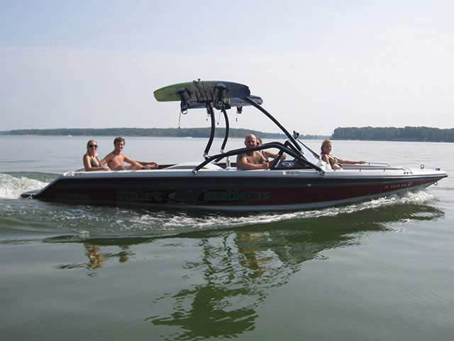 Airborne Tower ski tower Installed on 1991 Sport Nautique Boat