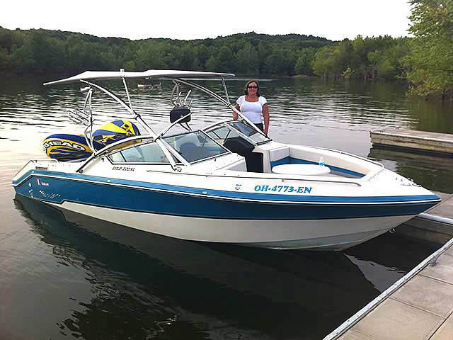 1989 Wellcraft 220 Elite boat wakeboard tower