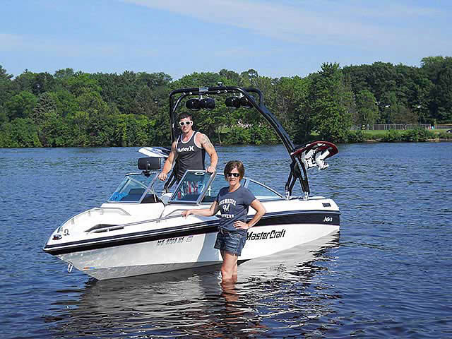 FreeRide Tower wakeboard towers for 1990 Mastercraft Maristar 210 boats