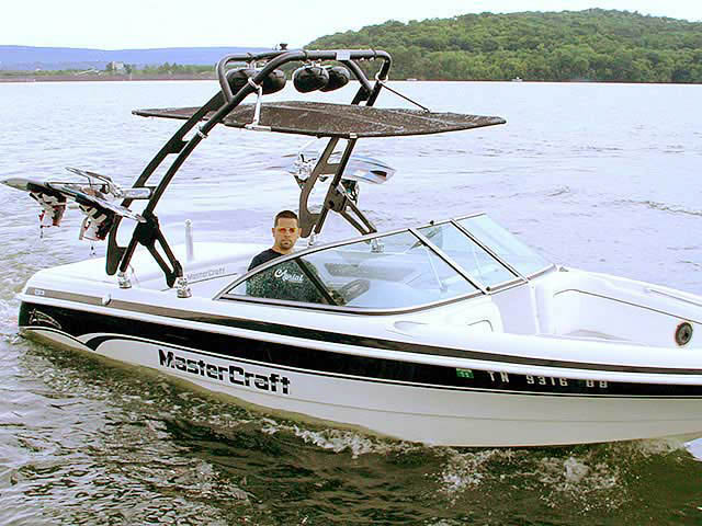 FreeRide Tower with Bimini wakeboard towers for 1999 Mastercraft ProStar 205 boats