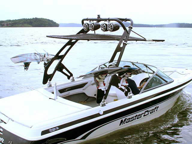 wakeboard towers for 1999 Mastercraft ProStar 205 boats using Aerial FreeRide Tower with Bimini