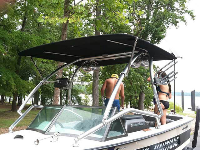 Airborne Tower with Eclipse Bimini wakeboard towers for 1974 Ski Nautique boats