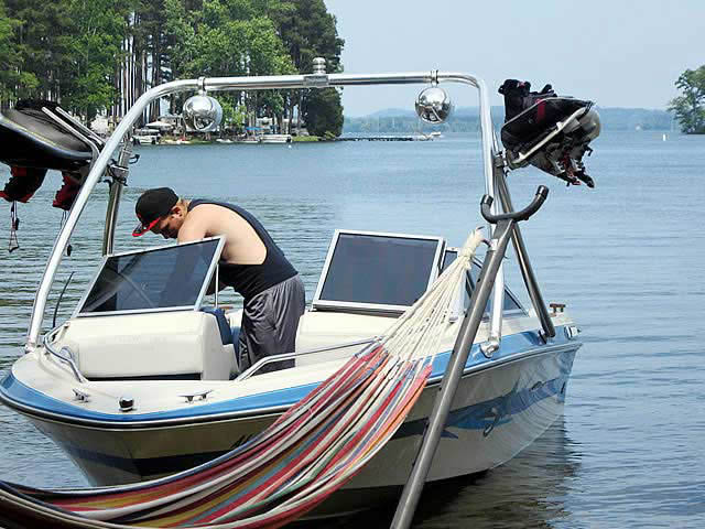 1989 Searay boat wakeboard tower