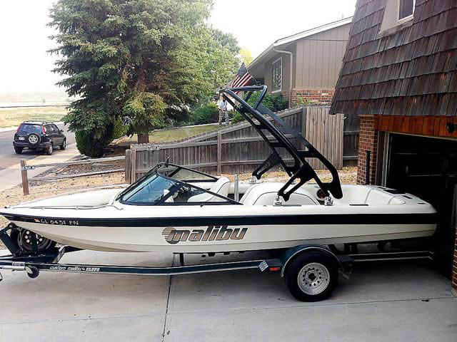 1998 Malibu Sportster LX  boat wakeboard towers