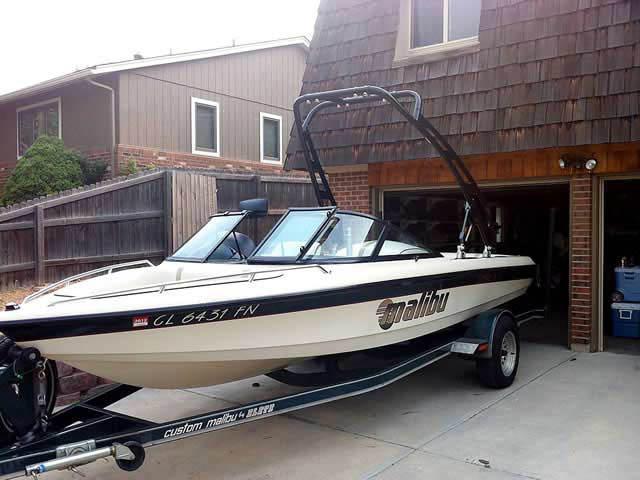 1998 Malibu Sportster LX  boat wakeboard tower