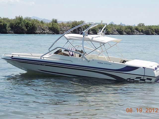 2001 Ultra Custom 21' boat wakeboard tower