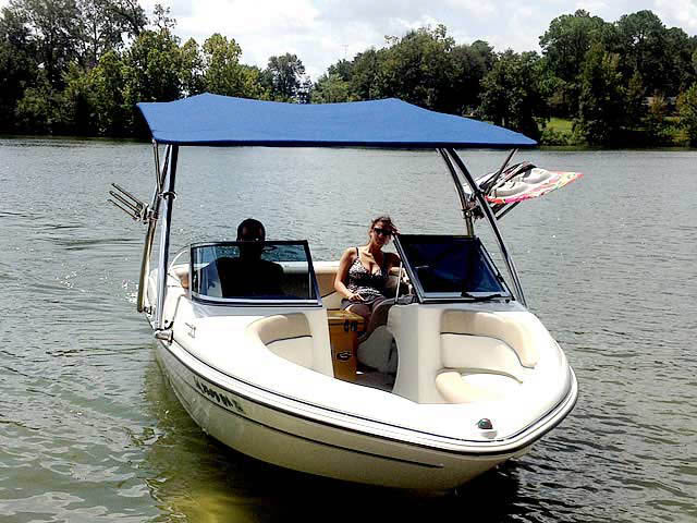 05 Glastron MX 175 boat wakeboard tower