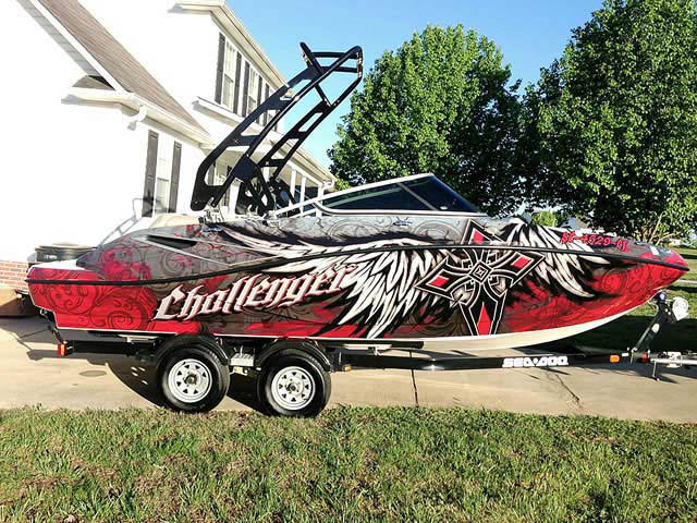2010 SEA DOO 210 CHALLENGER boat wakeboard towers