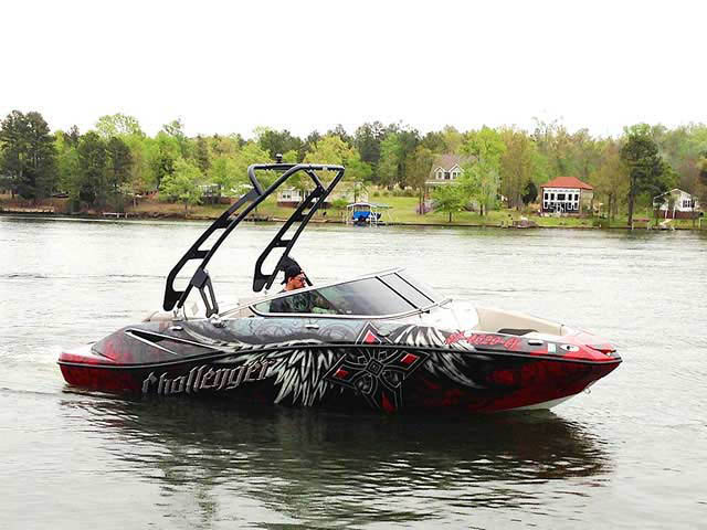 2010 SEA DOO 210 CHALLENGER boat wakeboard tower