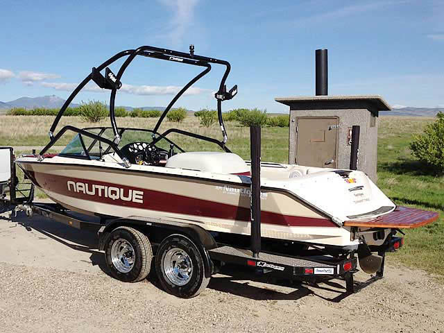 Airborne Tower ski tower Installed on 1997 Sport Nautique Boat