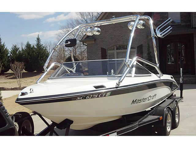 wakeboard towers for 1989 Mastercraft TriStar 190 boats using Aerial Airborne Tower
