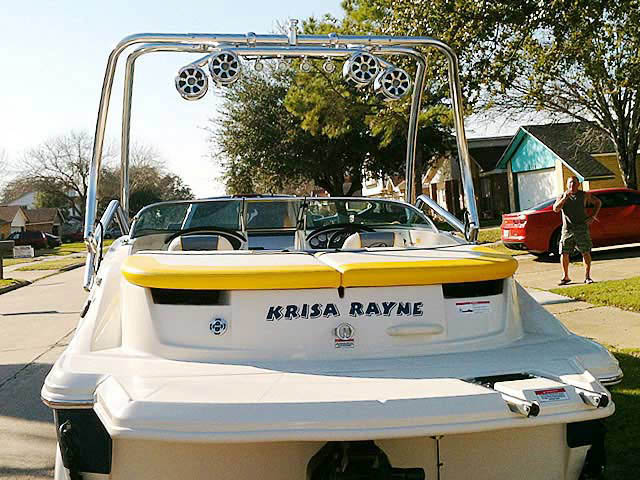 2007 Sea Ray 185 Sport boat wakeboard tower