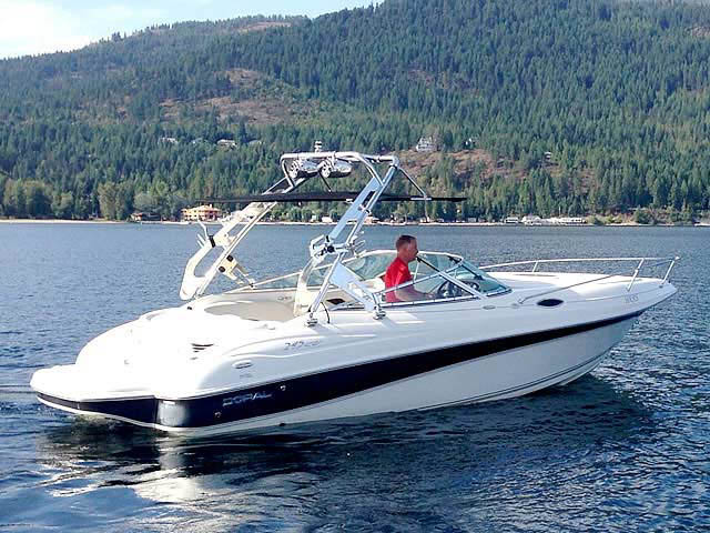 2003 Doral 245 CU boat wakeboard tower