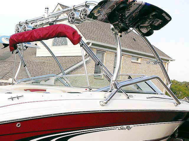 1998 Sea Ray  210BR boat wakeboard tower