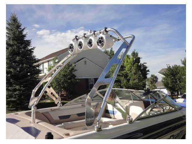 wakeboard towers for 2001 MasterCraft boats using Aerial FreeRide Tower