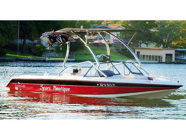Airborne Tower with Eclipse Bimini wakeboard towers for 1991 Sport Nautique boats