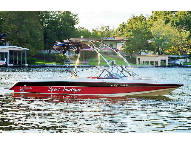 Airborne Tower with Eclipse Bimini ski tower Installed on 1991 Sport Nautique Boat