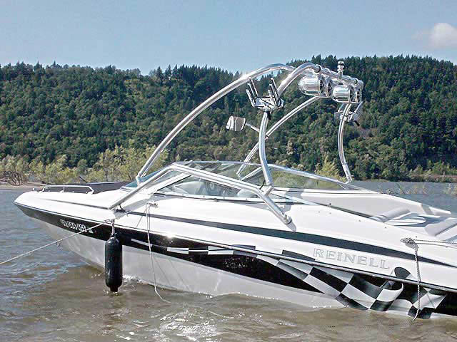 Airborne Tower wakeboard towers for Reinell 200LSE boats
