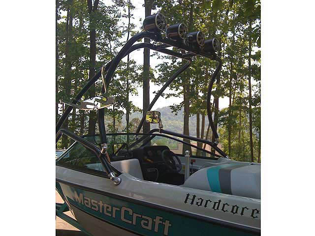 wakeboard towers for MasterCraft boats using Aerial Airborne Tower