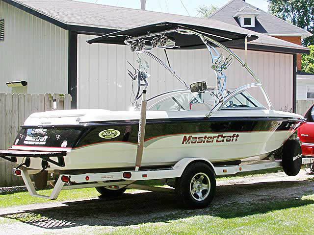 2000 MasterCraft Pro-Star 205 wakeboard Assault Tower with Eclipse Bimini 8473-1