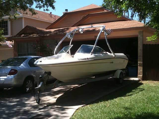 1997 Sea Ray 175 boat wakeboard towers