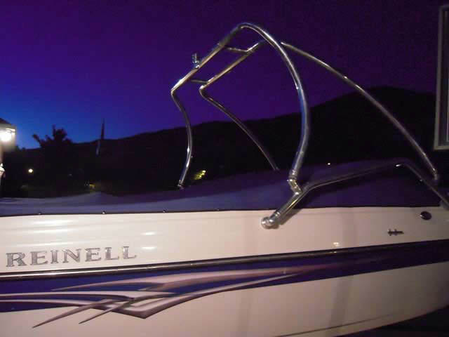 Reinell/230 LSE/2006 boat wakeboard towers installed on 07/04/2010
