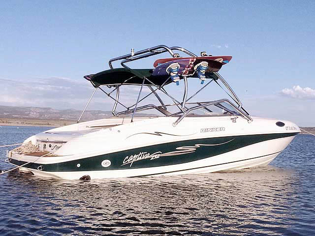 1998 Rinker Captiva 232 Cuddy  boat wakeboard towers
