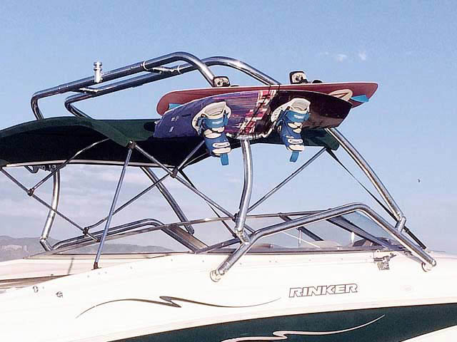 1998 Rinker Captiva 232 Cuddy  boat wakeboard tower