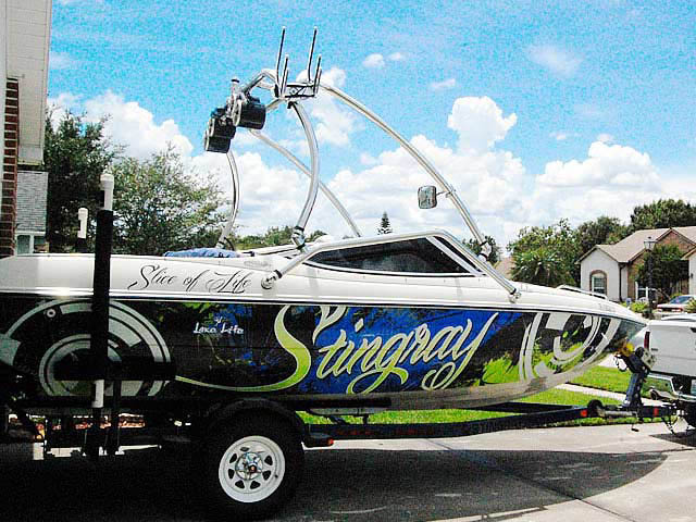 1999 Stingray 190lx boat wakeboard towers
