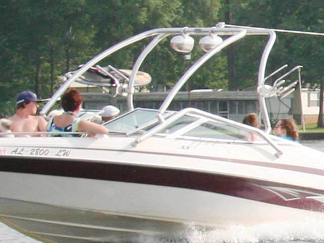 2006, Blue Water 2150 boat wakeboard tower