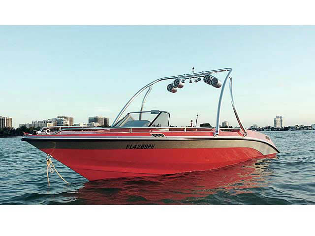 "Ascent Tower ski tower Installed on 1989 Mastercraft Tristar 22""   Boat"