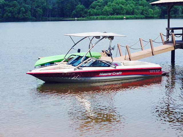 wakeboard towers for 1994 MasterCraft Prostar 205 boats using Aerial Airborne Tower with Eclipse Bimini