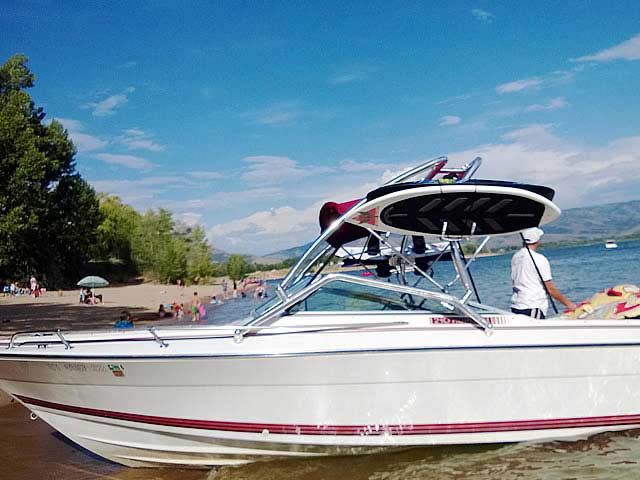 1990 Four Winns 22 ft boat wakeboard tower