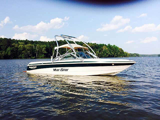 wakeboard tower for 1999, MasterCraft Maristar 205 VRS boats