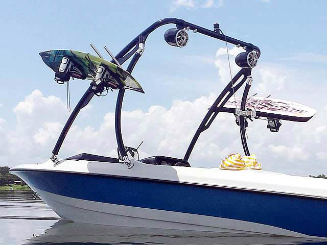 Ascent Tower ski tower Installed on 1991 Mastercraft Prostar 190 Boat