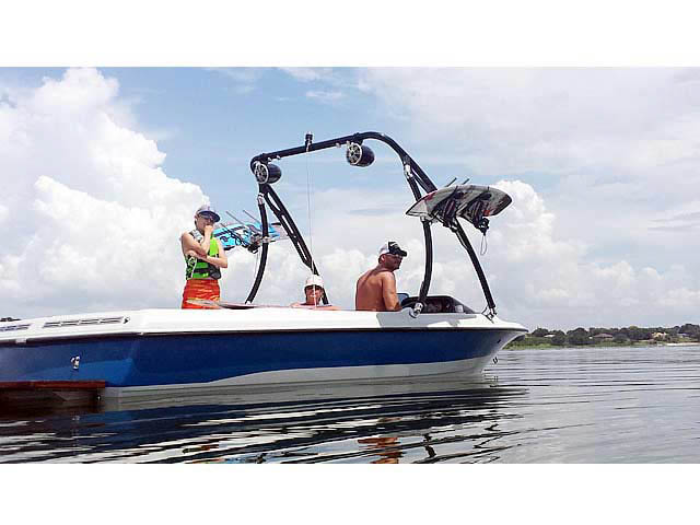 wakeboard towers for 1991 Mastercraft Prostar 190 boats using Aerial Ascent Tower