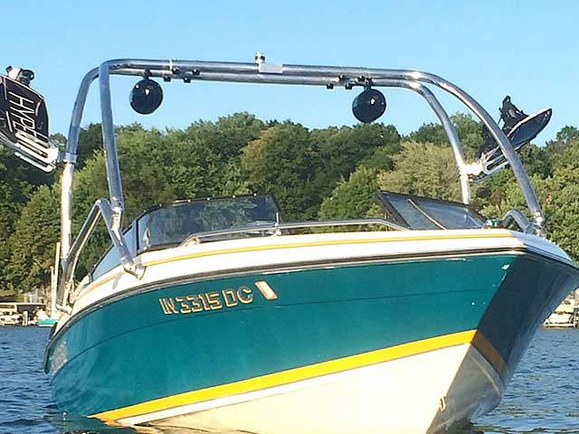 1992 Sunbird 205 Corsair boat wakeboard tower